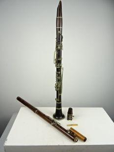 Two antique wooden wind instruments - Belgium/France - late 19th century