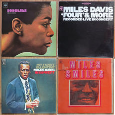 Miles Davis 4x LP from his Quintet-period 1965-1967: Sorcerer - Four & More - My funny Valentine - Miles Smiles