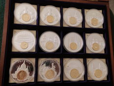 Europe – 12x gold-plated original coins 1993
