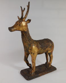 Bronze gilt sculpture of a deer - China - around 1900