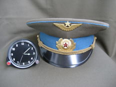 Aviation clock for the helicopter Mi-8 and cap officer of the air force (СССР/USSR). The second half of the 20th century.