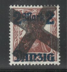 Gdansk 1920 – Germania 2 Mark on 35 Pfg with photo attest, Michel 28 II