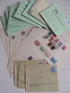 Germany all eras - Dantzig collection and lot in 7 circulation booklets