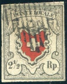 Switzerland 1850 -  Poste Locale - Michel 6