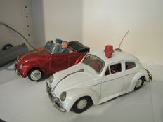 Bandai, Japan - Length 19/20 cm - VW Volkswagen Police and VW Cabrio