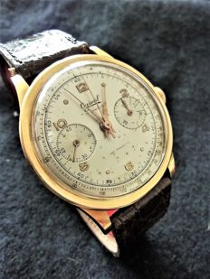 Chronograph watch OGIVAL Valjoux Swiss in gold CHR0001