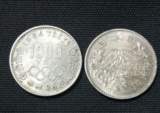 Japan - 1000 Yen 1964 'Olympic Games of Tokyo' (lot of 2 coins) - Silver