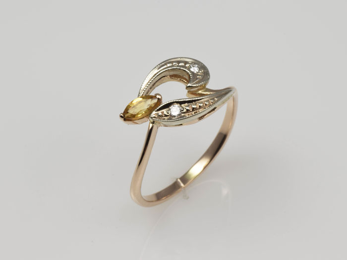 14 kt gold ring with no reserve price catawiki