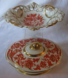 August Roloff porcelain tureen and bowl