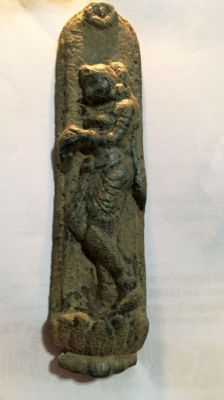 Figural bronze representation from the Gandhara culture -120 mm