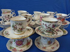 40-pieces of exclusive English cups and saucers - Royal Albert, Royal Devon, Royal Ascot, Royal Victoria and much more