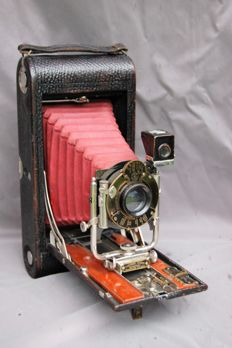 Kodak No 3A Folding model B4 prachtige rode Balg.