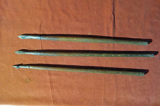 3 different medieval crossbow arrows - German
