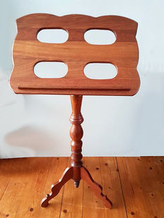 Walnut adjustable music stand - The Netherlands - second half 20th century
