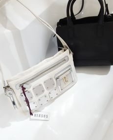 Two bags with shoulder straps – Versus by Versace & Giorgio Armani ***No reserve price***