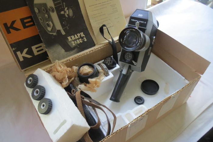 "Absolutely new !!!! The ""Quartz-2 × 8С-3"" ​​movie camera . 1971 - 1983 -KMZ (Krasnogorsk)  . Rarity."