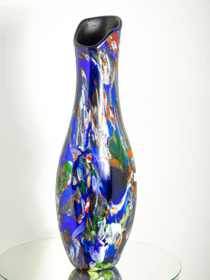 "Mario Costantini - Large mirrored vase ""Fantasia di Mare"" (65 cm)"
