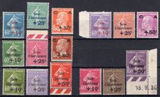 France 1927/1931 - The five series of sinking fund - Yvert 246/248, 249/251, 253/255, 266/268, 275/277