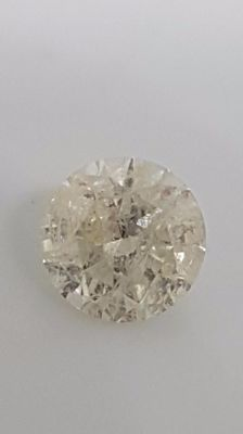 1.23 ct - Round Brilliant - White - H / I1 - No minimum price