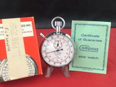 Compass Cockpit Timer - Stopwatch Racing Dial / New Old Stock / Set incl Box&Papers