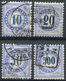 Switzerland 1882 - Selection of Postage Dues - Michel 10, 11, 12, 14