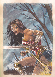 Juan Antonio Abad Juapi - Original Drawing - Wonder Woman
