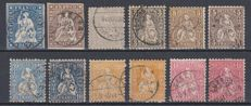 Switzerland. 1854/1924. Selection.