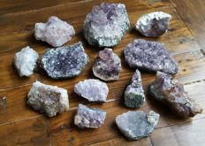 Amethyst lot (some with calcite) - 2425gm (13)