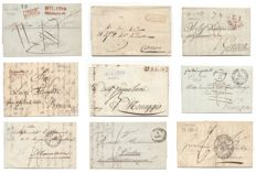 Italy 1807/1849 - Small lot of 12 prephilatelic letters