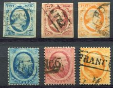 The Netherlands 1852 – First and second emission – NVPH 1/6
