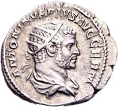 Roman Empire – Caracalla, AD 198-217, silver antoninianus, minted in Rome, AD 216