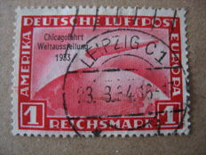 German Reich 1933 – 1 Mark Chicago flight, Michel 496