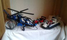 Technic - 8824 + 8444 + 8808 - Hovercraft + Air Enforcer + F1 Racer