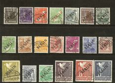 BBerlin - 1948 to 1990 - collection used with black overprint, red overprint and currency aid in Schaubek album