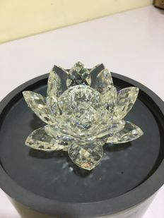 Swarovski - Crystal Water Lilies Candlestick Holder Medium Size