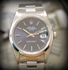 Rolex Date – Reference: 15200 – Full Set – Dual dial – Never Polished