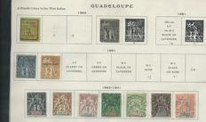 Collection in French Colonies including Indochina, Guadeloupe, French Guyana and Guinea from the early years