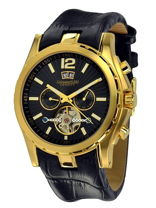"Calvaneo 1583 ""Density Gold"" Grande Complication Automatique – men's watch - NEW"