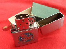 Beautiful Zippo lighter from 1965, published in honor of the U.S.S. Franklin D. Roosevelt CVA 42