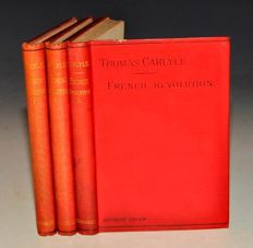 Thomas Carlyle - The French Revolution - 3 volumes - ca. 1870