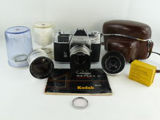 Kodak Retina Reflex III + 3 lenses and some accessories