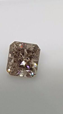 1,01 ct - Radiant - Brown - SI1 - No minimum price