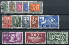 Switzerland 1945 - Pax Helvetia - Michel 447/459