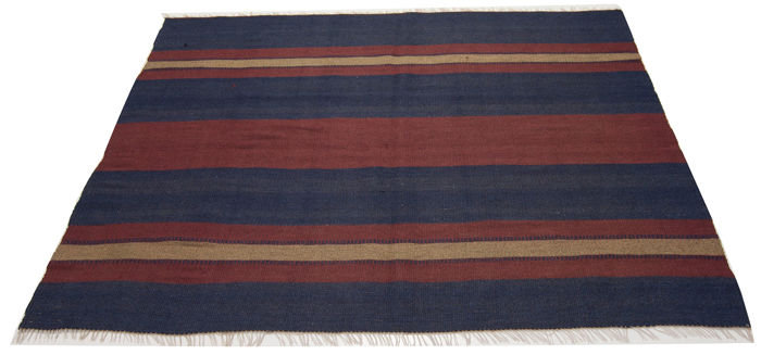 Genuine Cicim Kilim — Measurements: 124 x 140 cm — Iran — Circa 1900–1920