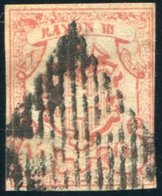 Switzerland 1852 - Rayon III - Michel 11