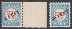 The Netherlands 1906 – Postage due overprint – NVPH P27/28, with inspection certificate