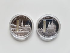 Sierra Leone – 10 Dollars 2009 'Sacred places' with holy water (2 coins) – 2 x 1 oz silver