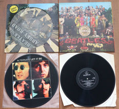 The Beatles- Great lot of 3 classic albums, all special releases: Abbey Road (limited edition picture disc, 1979)/ Sgt. Pepper's (1st Dutch stereo issue w. flipback gatefold sleeve) & Alternate Let It Be picture disc