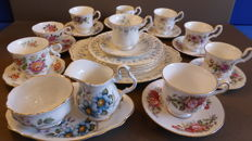 Royal Albert cups and saucers / cake set.