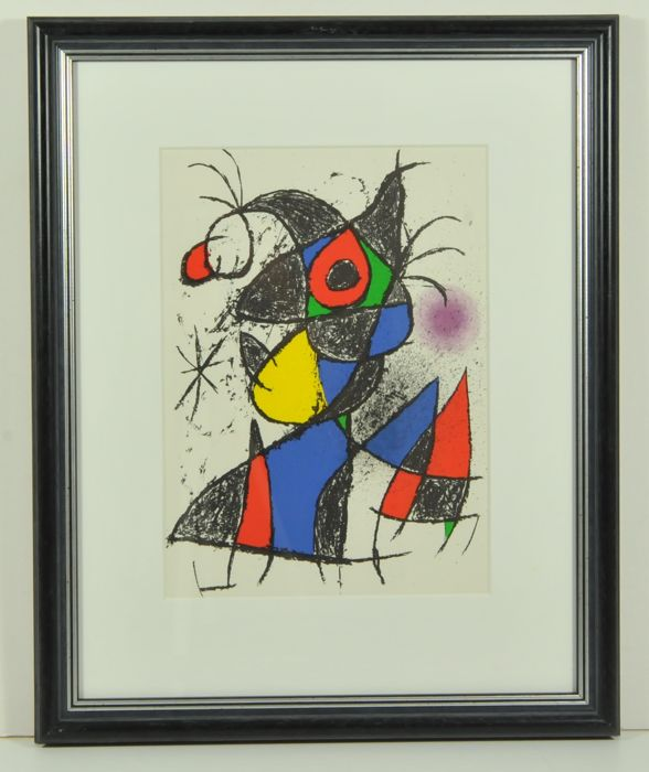 2 x Joan Miró, Plate III from 'Peintures, gouaches, dessins'& Cover of 'Peintures, gouaches, dessins'